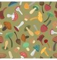 mushrooms seamless pattern vector image vector image