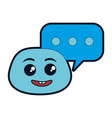 nerd emoji face with speech bubble vector image