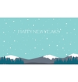 New Years hill scenery flat vector image