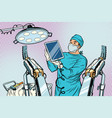 obstetrician delivered a baby robot computer vector image