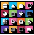 Office and business Flat icons for Web vector image vector image