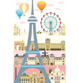 paris colorful 10 vector image vector image