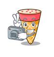 photographer ice cream tone mascot cartoon vector image vector image