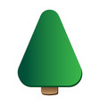 pine tree logo icon template vector image vector image