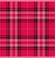 pink and black tartan plaid scottish pattern vector image vector image