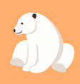 polar bear flat style vector image