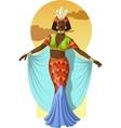 Retro character attractive afroamerican actress vector image vector image