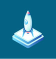 rocket symbol business equipment ship vector image vector image