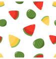 seamless pattern melon and watermelon vector image vector image