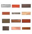 set 12 different bricks in cartoon style vector image
