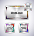 set mosaic metal label shopping vector image vector image