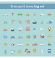 Set of flat transportation vehicles icons vector image