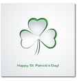 Shamrock or clover leaf vector image