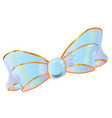 silk pastel blue bow vector image vector image