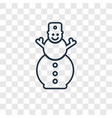 snowman concept linear icon isolated on vector image