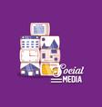 social media applications technology digital vector image