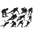 Speed skating silhouette vector image vector image