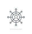 stockholder line icon on white vector image