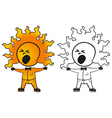 sunny man yawns vector image vector image