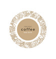 template nature symbol coffee vector image vector image