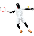 tennis silhouette vector image vector image