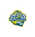 the emblem of the mountain bike sport bike logo vector image