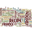 the most popular french recipes text background vector image vector image