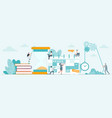 time management and working organization vector image