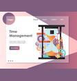 time management website landing page design vector image vector image