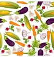 Vegetables realistic seamless pattern vector image vector image