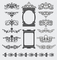 Vintage decorative scroll and background set vector image