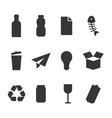 waste recycle bin for some types waste icon vector image