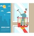 Window Washer At Work Flat vector image vector image