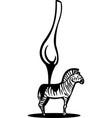 zebra spoon vector image vector image