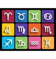 Zodiac signs in flat style vector image