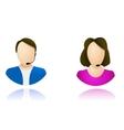 Customer service operator icons vector image