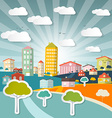 Abstract City in Retro Style vector image