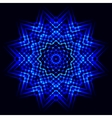 Abstract cosmic star snowflake vector image vector image
