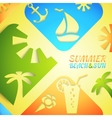 Abstract summer Bright beach vector image vector image