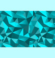 abstract turquoise geometric triangular seamless vector image vector image