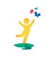baby icon multicolored boy is vector image vector image