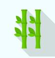 bamboo plant icon flat style