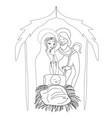 birth of jesus in bethlehem vector image