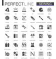 black classic sewing needlework web icons set vector image