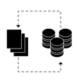 black distributed database icon image design vector image vector image