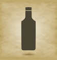 bottle silhouette tequila vector image