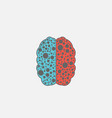 brain left and right hemispheres with network vector image vector image