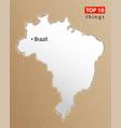 brazil map brazilian maps craft paper texture vector image vector image