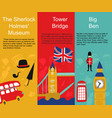 british london symbols banners set vector image vector image