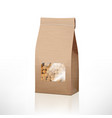 brown craft paper peas bag packaging with vector image vector image